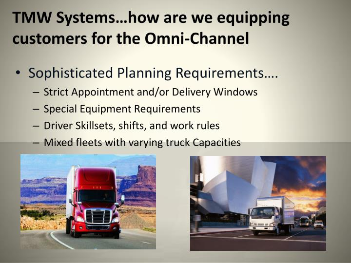 TMW Systems…how are we equipping customers for the Omni-Channel