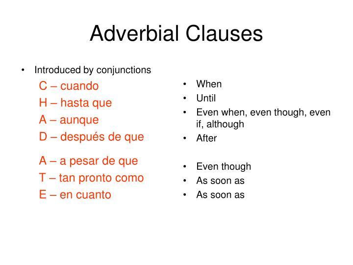 Introduced by conjunctions