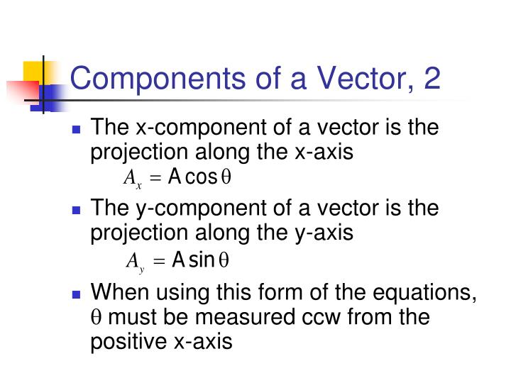 Components of a Vector, 2