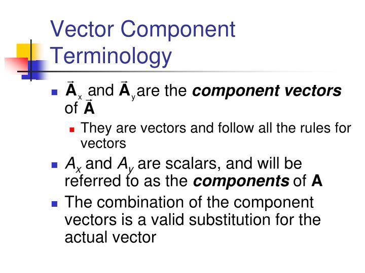 Vector Component Terminology