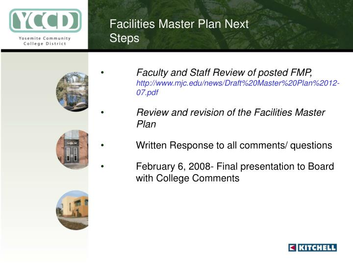 Facilities Master Plan Next Steps