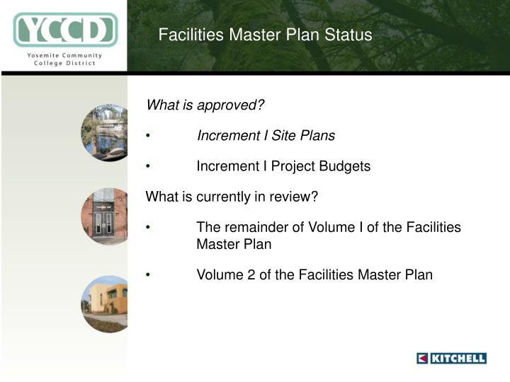 Facilities Master Plan Status