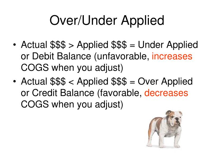 Over/Under Applied