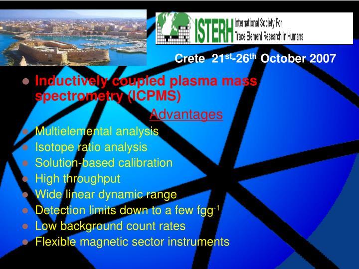 Inductively coupled plasma mass spectrometry (ICPMS)