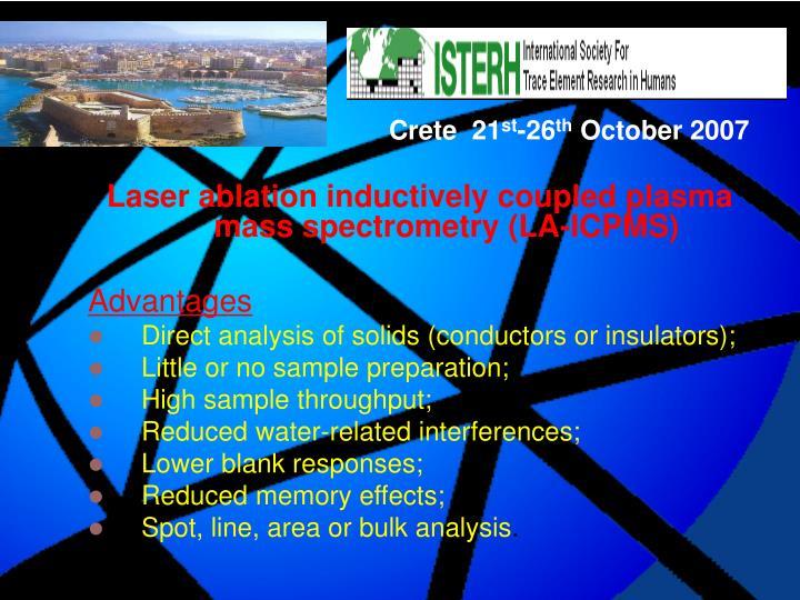 Laser ablation inductively coupled plasma mass spectrometry (LA-ICPMS)
