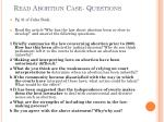 read abortion case questions