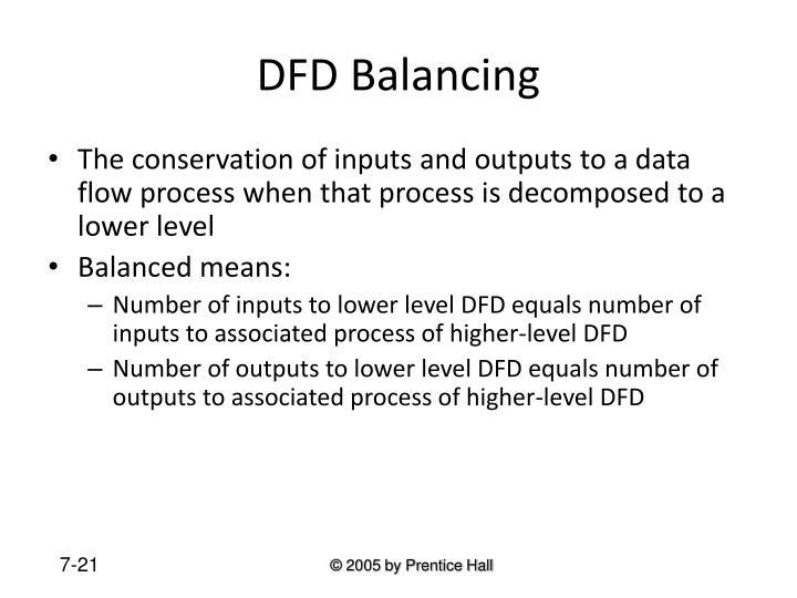 DFD Balancing