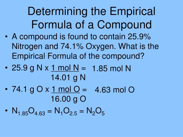 Determining the Empirical Formula of a Compound