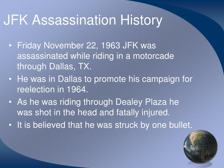 Jfk assassination history