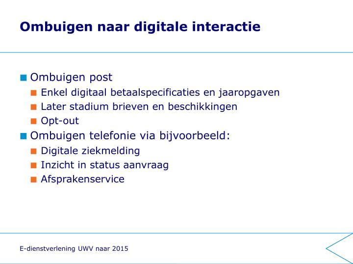 Ombuigen naar digitale interactie