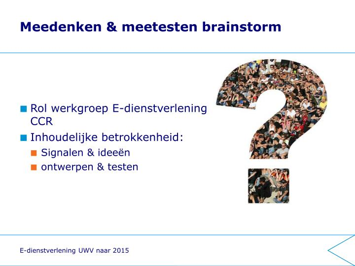 Meedenken & meetesten brainstorm