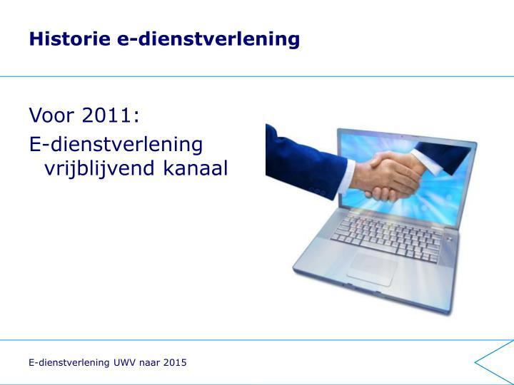 Historie e-dienstverlening