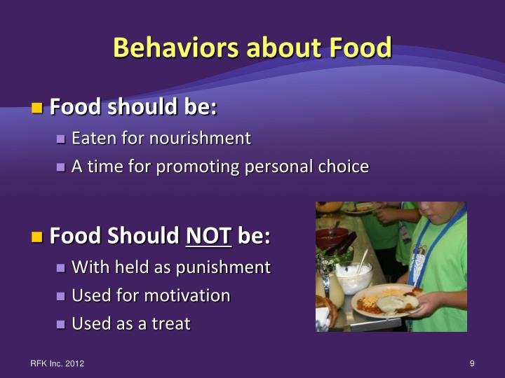 Behaviors about Food