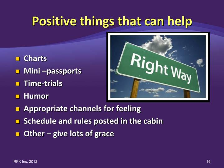 Positive things that can help