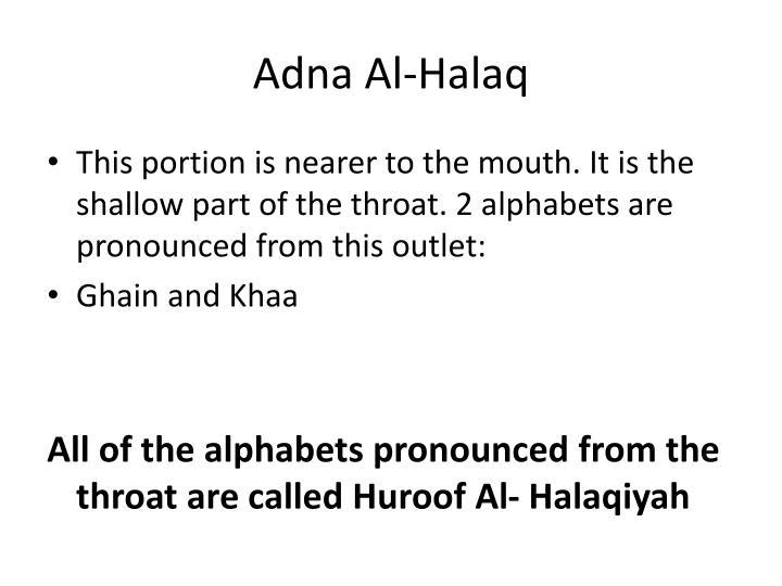 Adna Al-Halaq