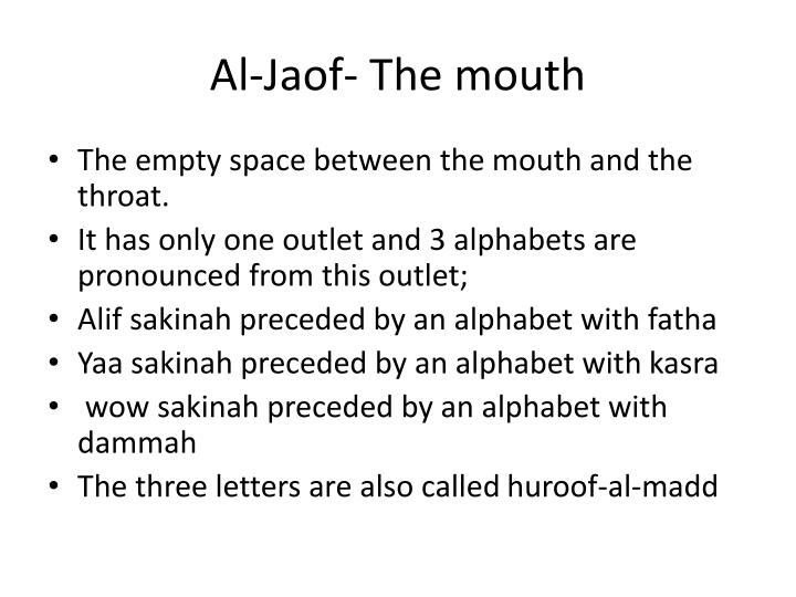 Al-Jaof- The mouth
