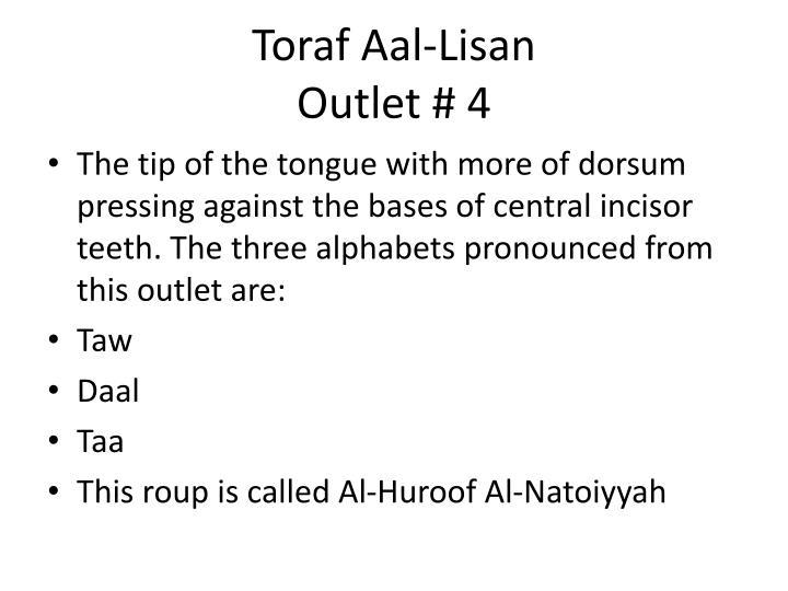 Toraf Aal-Lisan