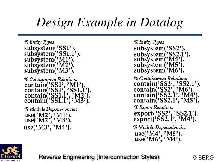 Design Example in Datalog
