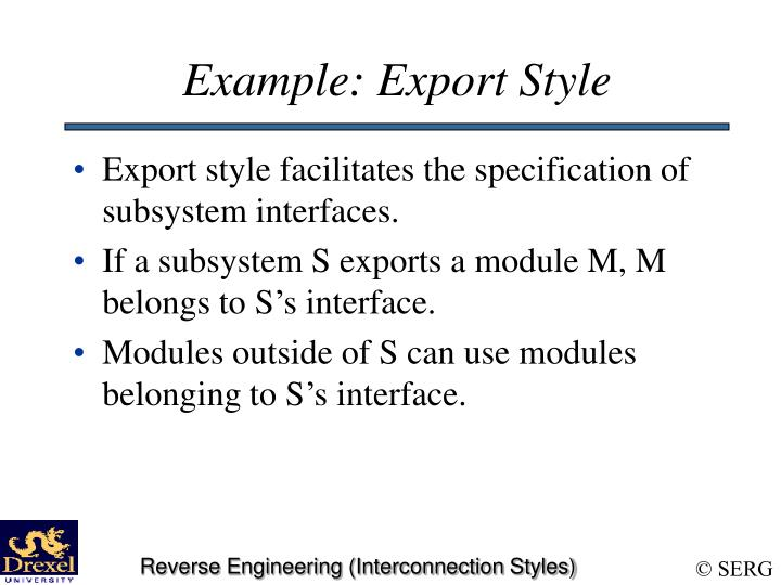 Example: Export Style