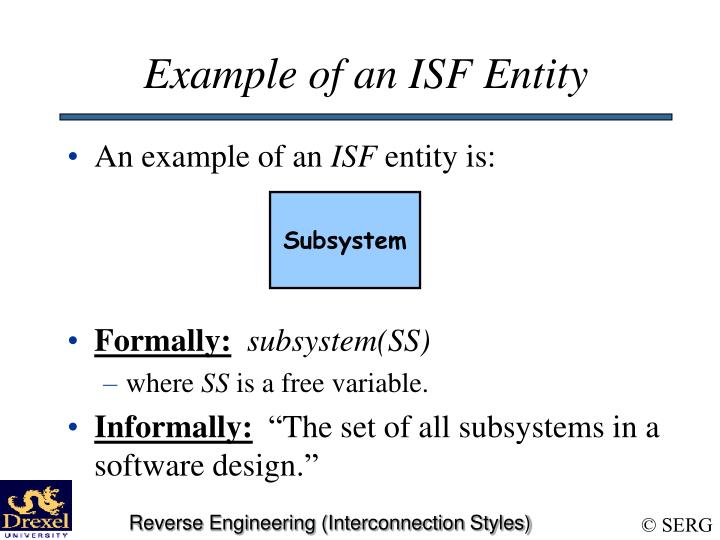 Example of an ISF Entity