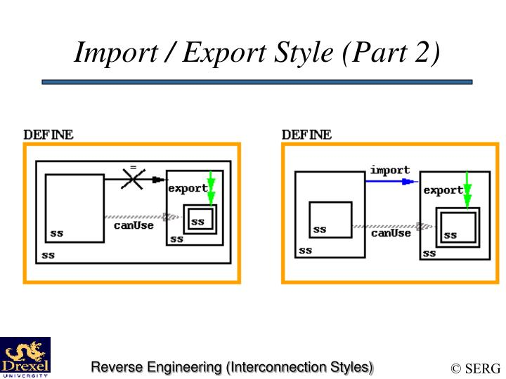 Import / Export Style (Part 2)