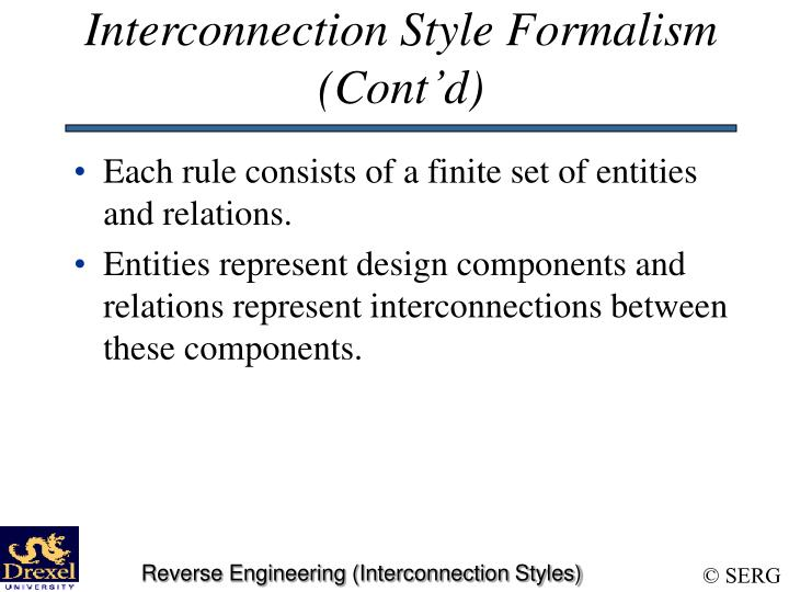 Interconnection Style Formalism (Cont'd)
