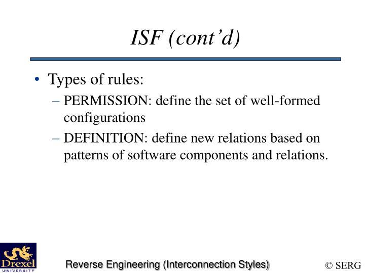ISF (cont'd)