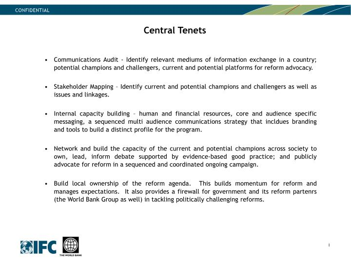 Central Tenets