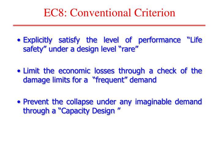EC8: Conventional Criterion