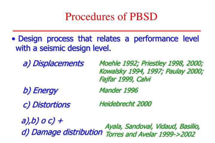 Procedures of PBSD