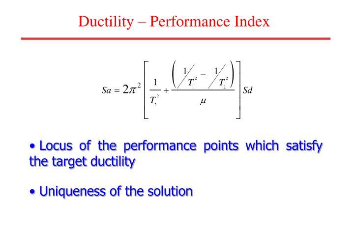 Ductility – Performance Index