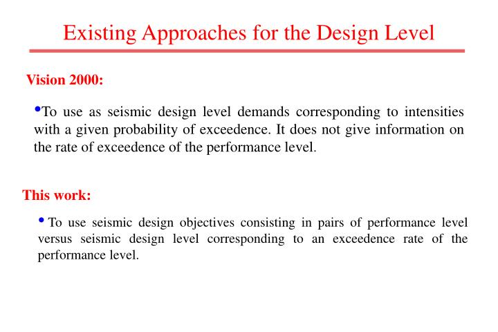 Existing Approaches for the Design Level