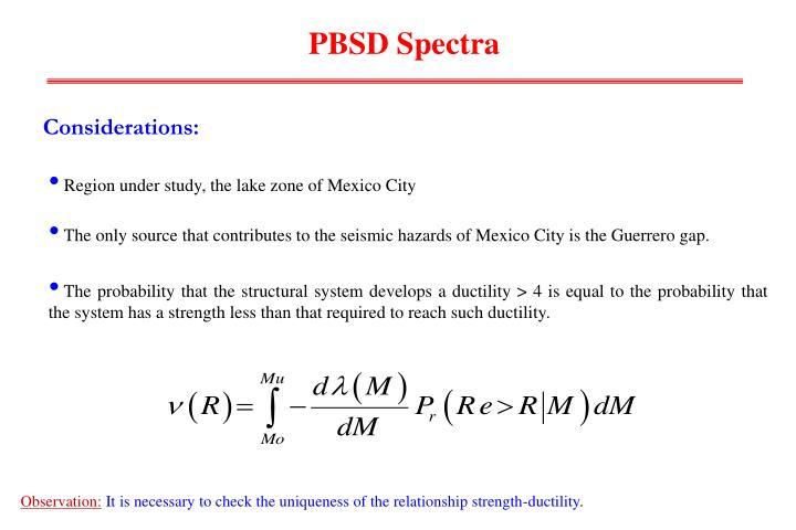 PBSD Spectra