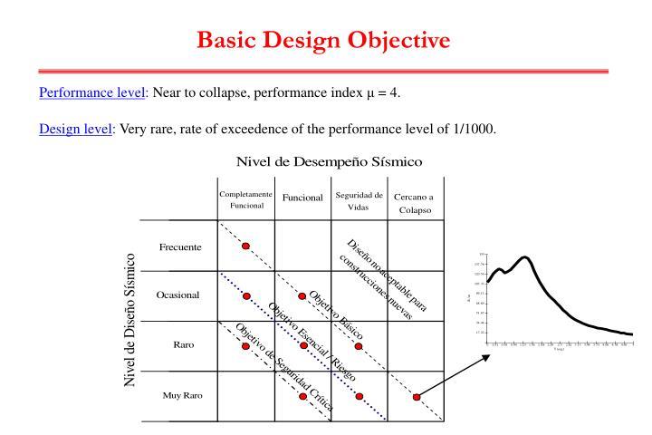 Basic Design Objective