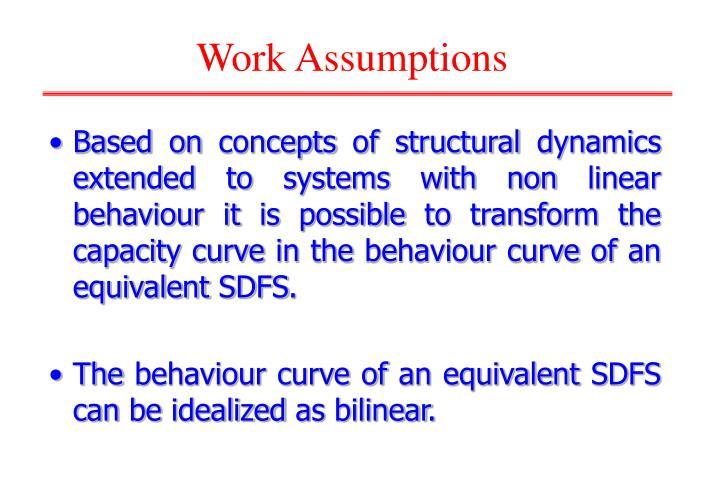 Work Assumptions