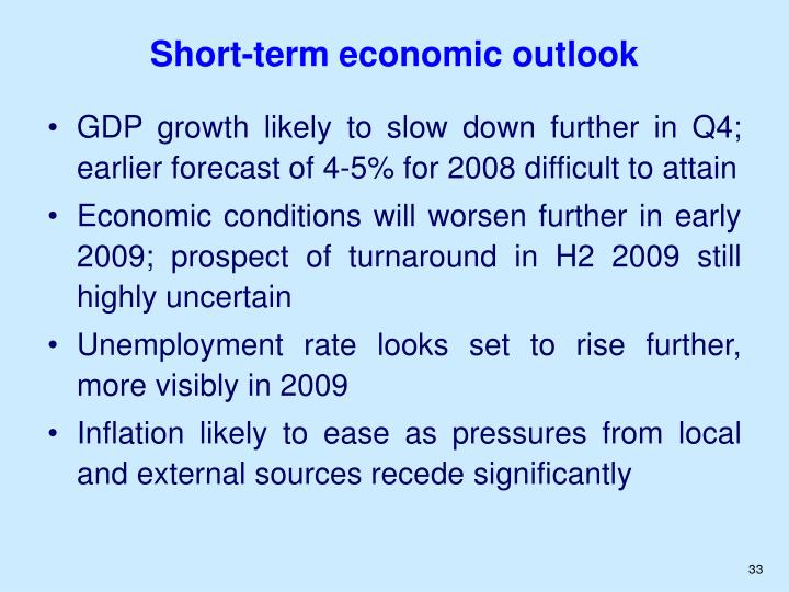 Short-term economic outlook