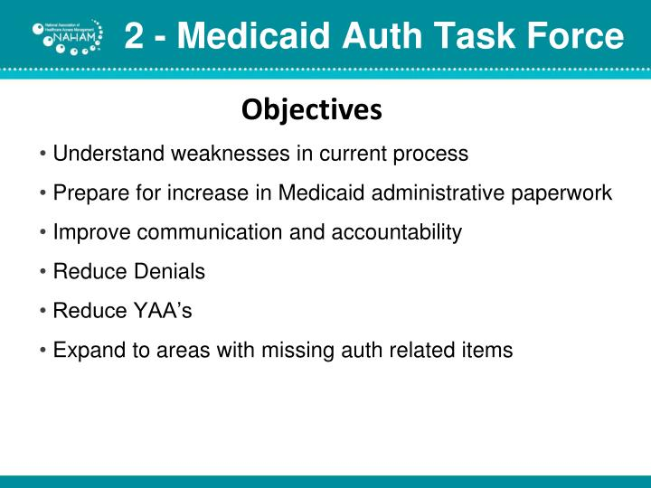 2 - Medicaid Auth Task Force