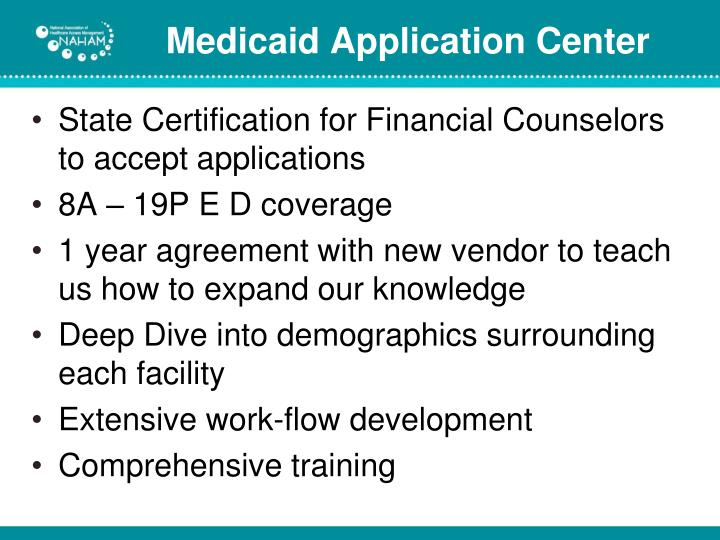 State Certification for Financial Counselors to accept applications