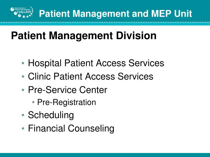 Patient Management Division