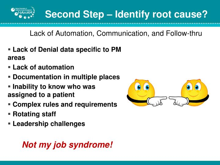 Second Step – Identify root cause?