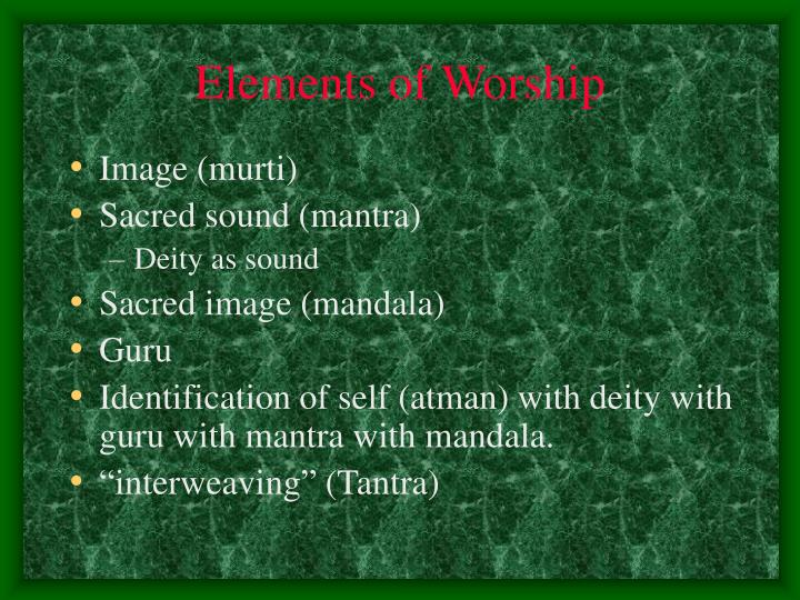 Elements of Worship