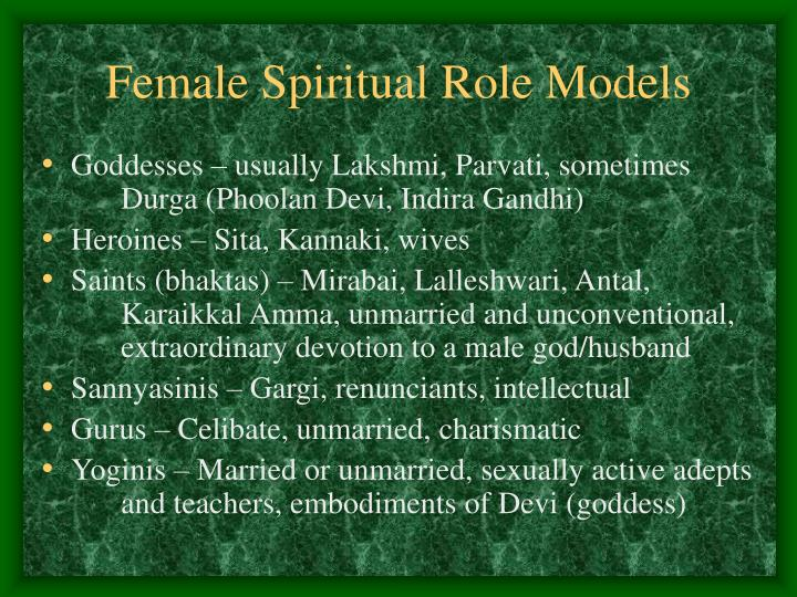 Female Spiritual Role Models