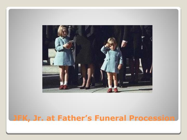 JFK, Jr. at Father's Funeral Procession
