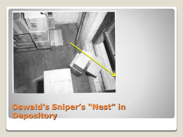 "Oswald's Sniper's ""Nest"" in Depository"