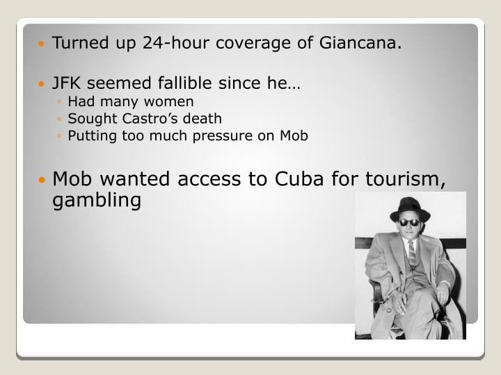Turned up 24-hour coverage of Giancana.