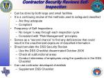 contractor security reviews self inspection