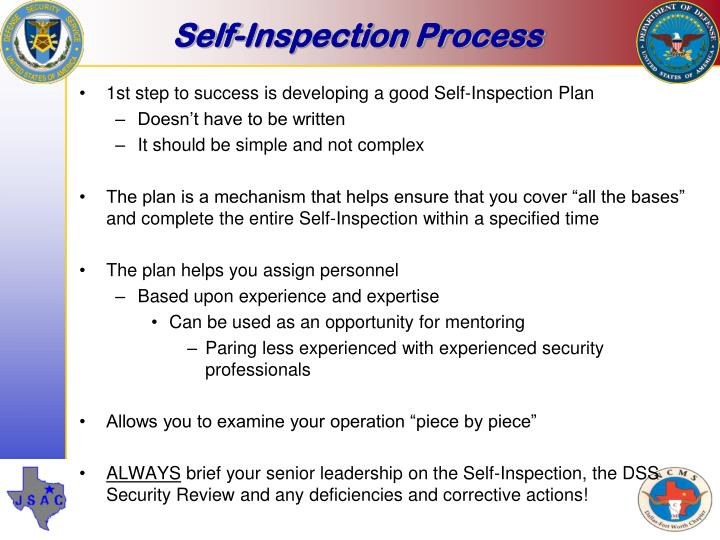 Self-Inspection Process