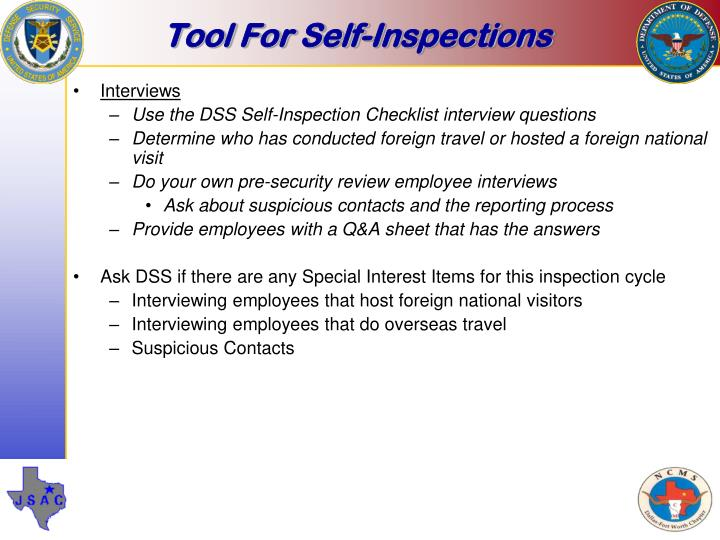 Tool For Self-Inspections