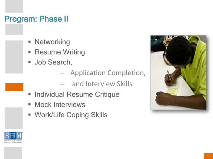 Program: Phase II