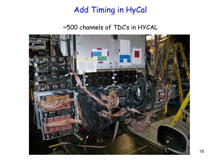 Add Timing in HyCal